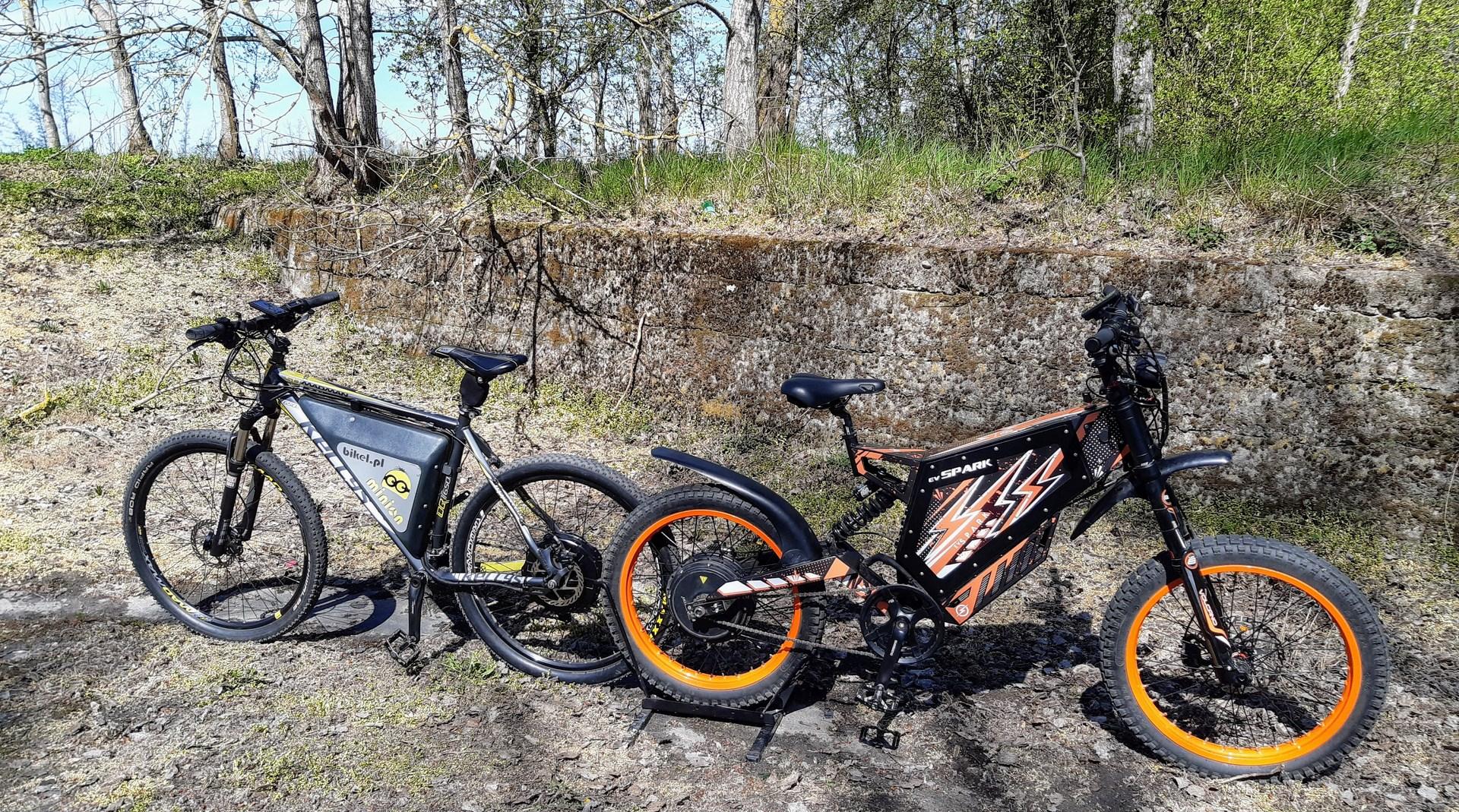 Ev Spark e-bike and Minion